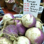 turnips closeup