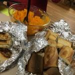 ANNUAL MEEtiNG_squash casserole and garlic bread