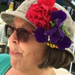 happy hat_sylvia and pansies