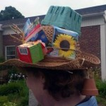 hat with seed packets